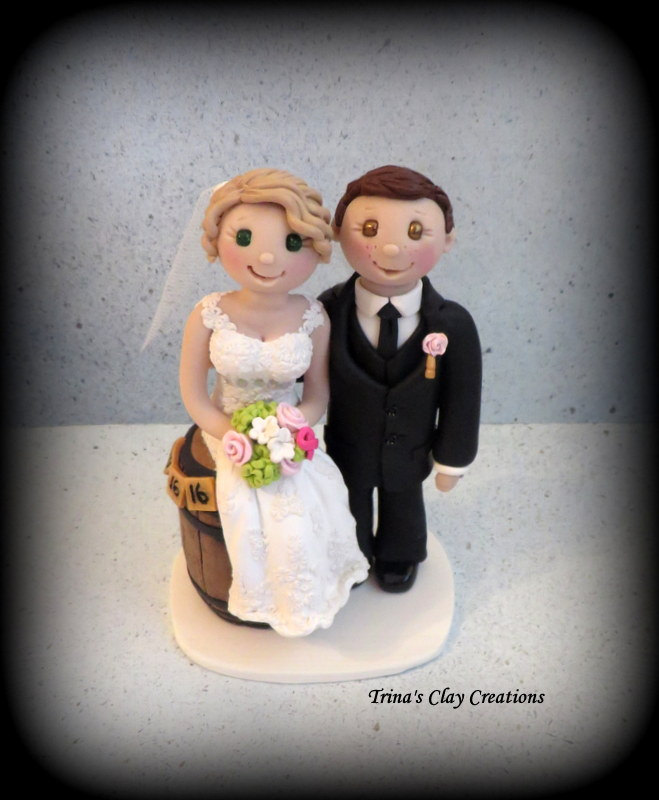 Whiskey Wedding Cake Topper