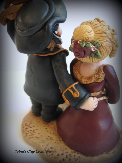 pirate ship wedding cake topper renaissance and pirate groom wedding cake topper 18617
